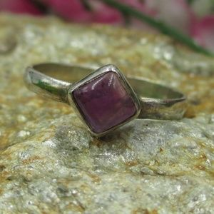 Jewelry - Vintage Size 7 Sterling Silver Amethyst Ring